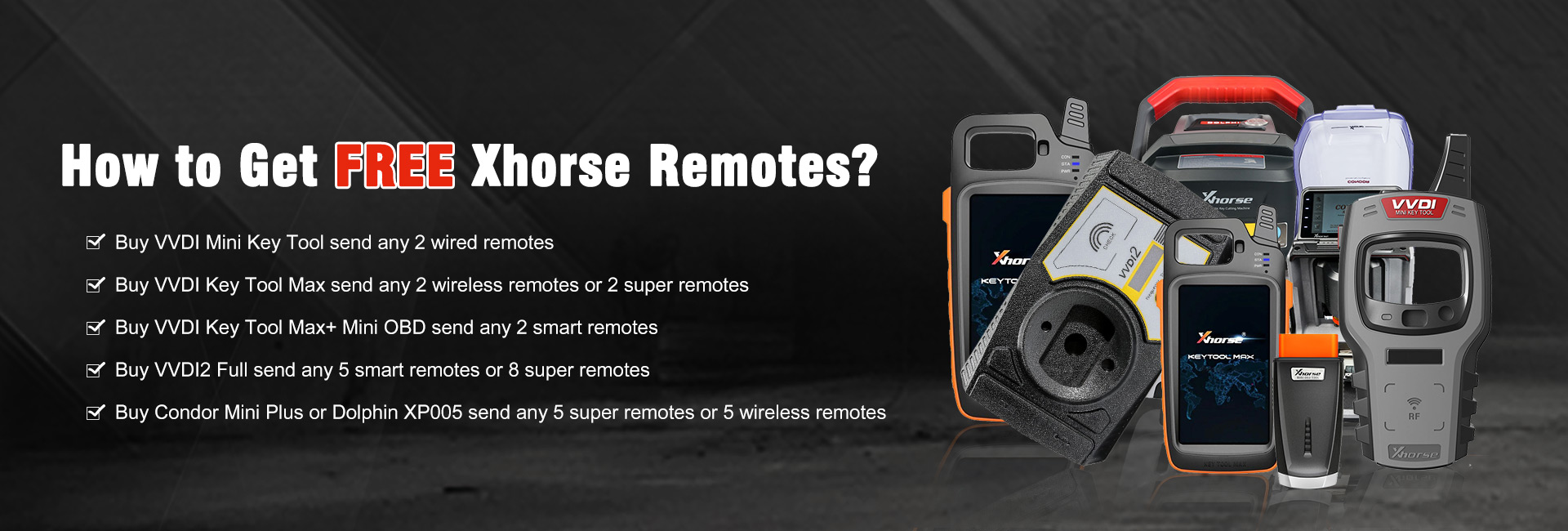 HOW TO GET FREE XHORSE REMOTES