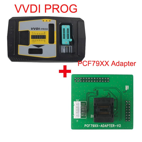 Value Bundle Xhorse VVDI PROG Programmer plus PCF79XX Adapter (Support Ship from UK)