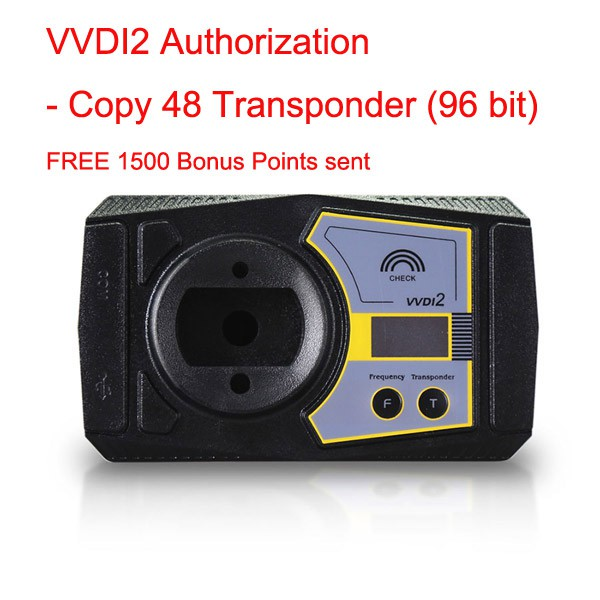 VVDI2/VVDI Key Tool Authorization - Copy 48 Transponder (96 bit) Get MQB Key Learn Authorization for Free