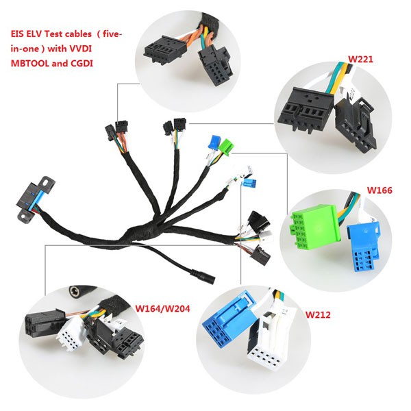 Benz EIS ELV Test cables 5-in-1 Works Together with VVDI MB TOOL (Ship from UK)
