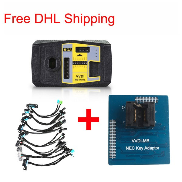 Xhorse VVDI MB BGA Tool Plus 8pcs EIS/ELV Test Line Plus NEC Key Adaptor Free DHL shipping