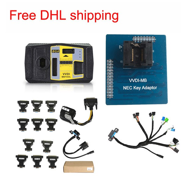 Xhorse VVDI MB BGA Tool+5 in 1 EIS ELV Test cables+NEC Key Adaptor +ECU Renew Cable