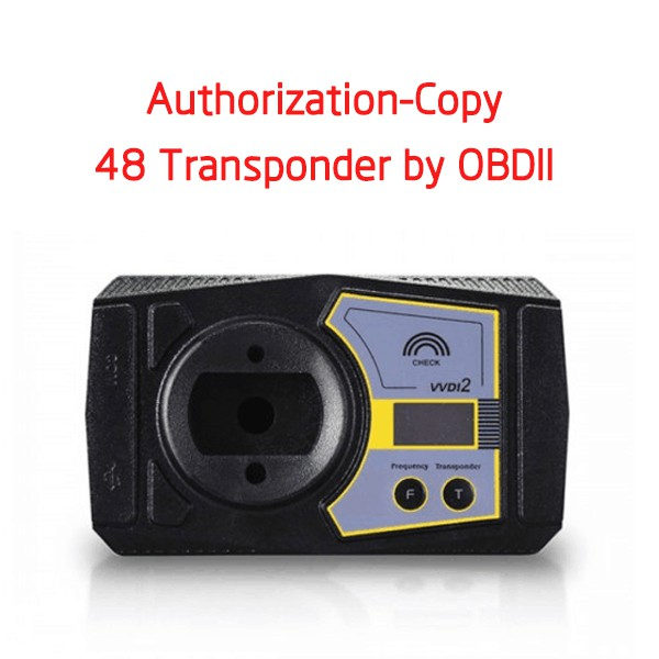 VVDI2 Authorization - V-A-G Copy 48 Transponder by OBDII/Prepare Dealer Key by Ecu Data