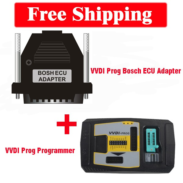 Value Bundle Xhorse VVDI Prog and Bosch ECU Adapter Package Free Shipping
