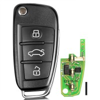 XHORSE XKA600EN Audi A6L Q7 Style Universal Remote Key 3 Buttons for VVDI2 1 pc