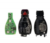 Benz Smart Key Shell 3+1 Button Plastic with a Red Button and Xhorse VVDI BE Key Pro Package