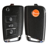Xhorse VW MQB XKMQB1EN Flip Transponder Key 3 Buttons 10 pcs/lot