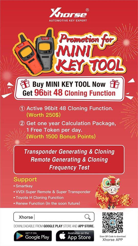 V1 6 1 VVDI Mini Key Tool VVDI Key Tester Remote Maker NA Version based on  iOS/Android Mobiles