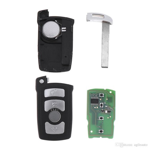 4 Button Remote Key for BMW 7 Series CAS1 System 315Mhz 433Mhz 868Mhz PCF7942