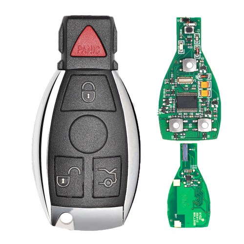 NEC Chip Panic Smart Remote Key Fob For Mercedes Benz C E Class (2 Batteries) 315Mhz for VVDI MB