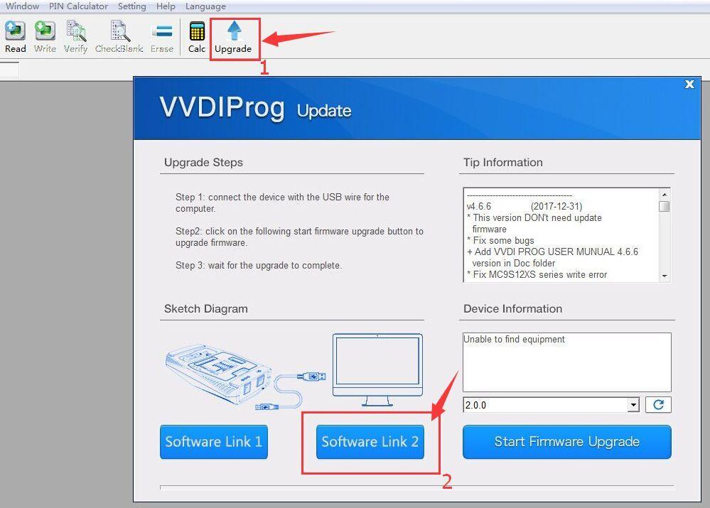 V4 8 6 Original Xhorse VVDI PROG Programmer Frequently Free