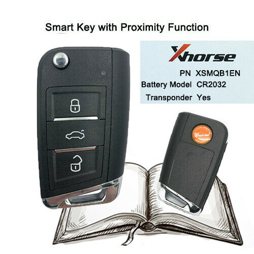 Xhorse VW MQB  Smart Proximity Remote Key XSMQB1EN 3 Buttons for VVDI2 VVDI Key Tool 10Pcs