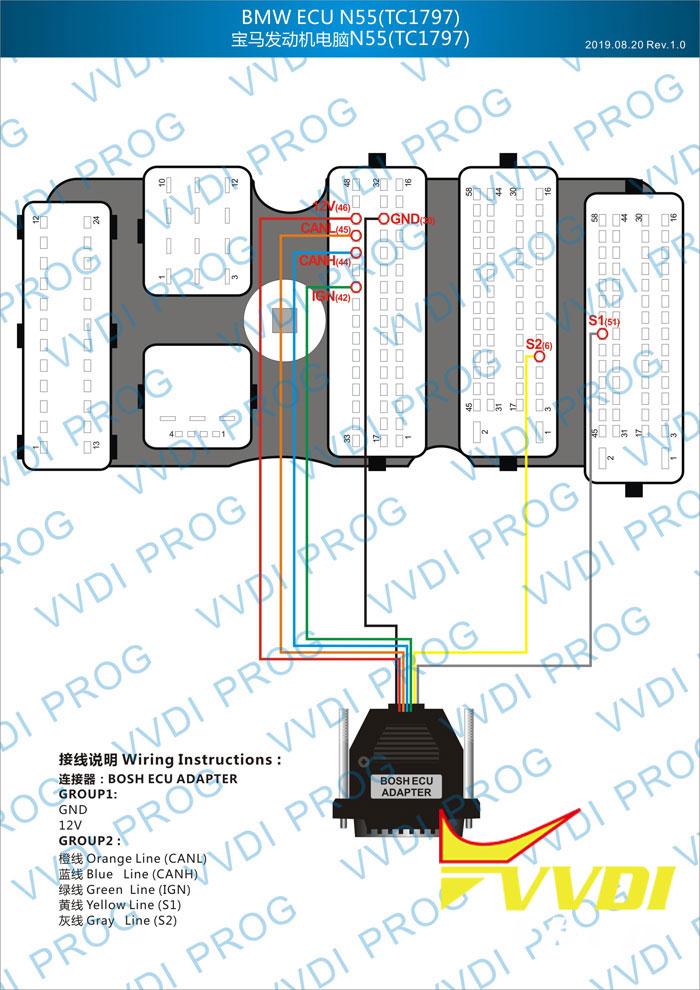 bmw n55 wiring diagram vvdi prog bosch ecu adapter for    bmw    ecu n20    n55    b38 isn  vvdi prog bosch ecu adapter for    bmw    ecu n20    n55    b38 isn