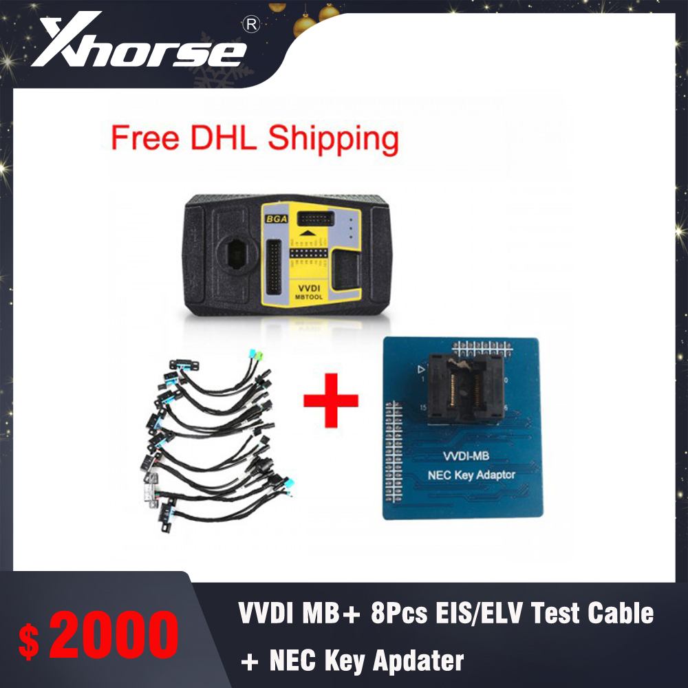 Xhorse Vvdi Mb Bga Tool Plus 8pcs Eis Elv Test Line Plus Nec Key Adaptor Free Dhl Shipping