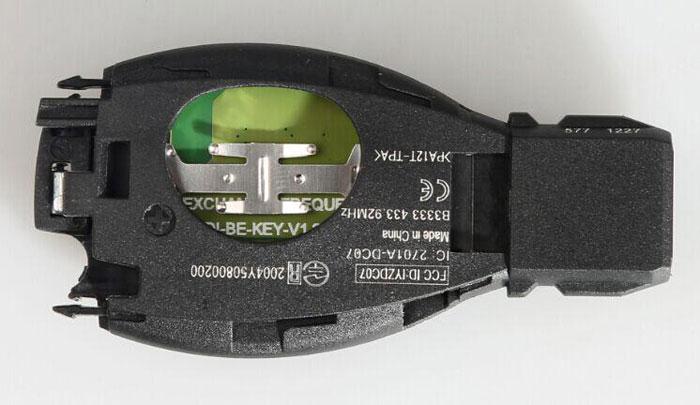 assemble benz key shell with vvdi be key pro 2