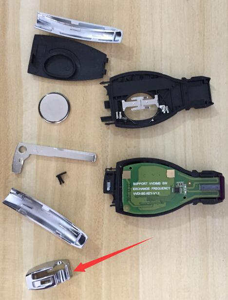 assemble benz key shell with vvdi be key pro 7